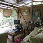 upstairs sittign room with hammock