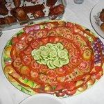 Decoración de las ensaladas
