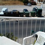 View of bin store - glass bottles dropped into bin from dawn till dusk