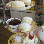 Traditional Cornish cream tea for two! Xxx