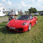 Ferrari Spider in the car park