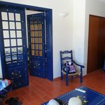 Doors to bedroom from lounge