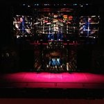 The Stage all set up for Stomp at the Regal theatre