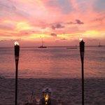 Torchlight dinner just after sunset