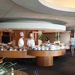 Breakfast buffet from the Terrace restaurant.  Seems a bit overpriced to me.
