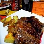 A delicious steak