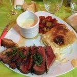 magret de cannard sauce foie gras