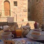 breakfast on main floor.