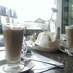 nice view, weather and latte