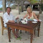 Ole & Linda enjoying lunch
