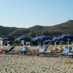 La spiaggia riservata all'hotel.