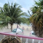 The view of the Caribbean from the deck.  Great place to hammock
