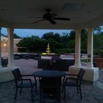 Huge pool deck and dining area