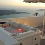 Our balcony with hot tub. luvverly!