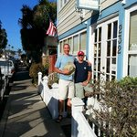 Us in front of the Old Turner Inn