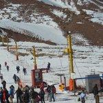 Pista de esquí Los Puquios (se puede ver cómo quedó el elevador)
