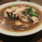 Broccoli and mushrooms with chicken