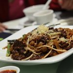 Beef Stir-fry with Rice Noodles  (乾炒牛河)