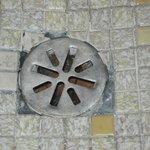 Missing shower tiles