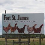 Teaser billboard on the Yellowhead Hwy that caught our attention re the Fort and lead to the vis