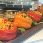 Halloumi and Cous Cous Stuffed Peppers