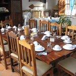 Nossa mesa para o Cafe da Manha