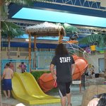 A view of the indoor waterpark