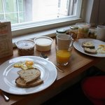 Breakfast in room due to bank holiday