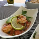 shrimp ceviche at Ceviche Bar