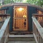 Our wonderful Green Yurt!