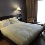 le lit double avec la bonne couette douillette