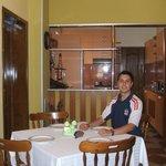 A cosinha e a sala de jantar