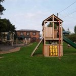 Lovely, big pub garden with kids climbing frame with slide and AMAZING views over the countrysid