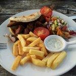 Lamb shish kebab; it was good!