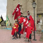 Outside the Castle with the Red Knight