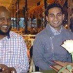 Yasir Ahmed & Zunaid Parker enjoying the meal