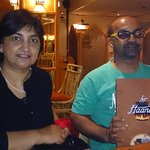 with my sister Shanaaz Parker, a author of cooking books and the Haandi menu