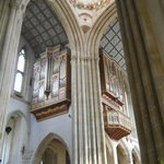 North transept and organ loft.