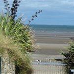 Gate onto beach