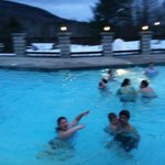 Swimming outside, in the winter! GREAT fun!
