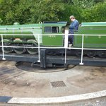Engine on the Turntable at Scalby Mill