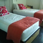 bedroom is small & cozy