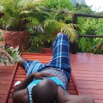 relaxing watching the lovely pitons mango cottage