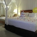 Birthday cake and decorations