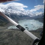 Aerial view of the Tasman Glacier Lake