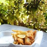 Groper fish and chips