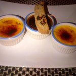 Trio of Creme Brulee