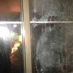 filthy window - couldn't see out of it night or day
