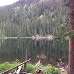 glistening beaver lake in quiet august afternoon