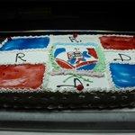 nuestra bandera dominicana en postre